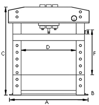 Pressa idraulica officina comando manuale pneumatico 50 for Pressa idraulica per officina usata